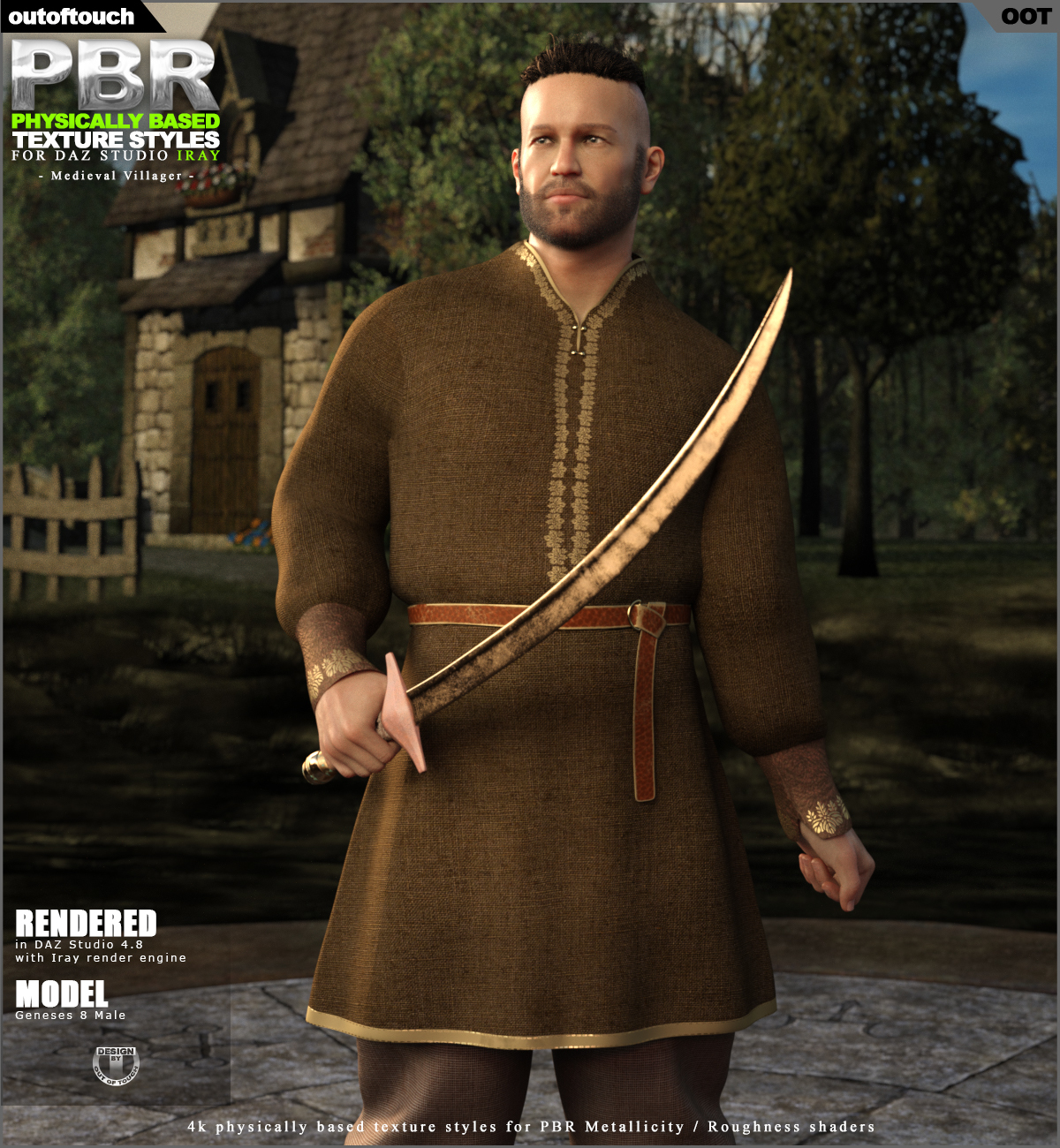OOT PBR Texture Styles for Medieval Villager