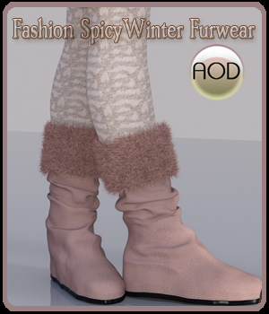Fashion: SpicyWinter Furwear Boots&Leggings G3G8 3D Figure Assets ArtOfDreams