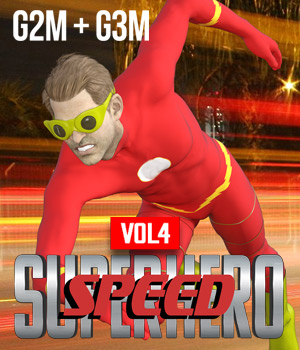 SuperHero Speed for G2M and G3M Volume 4 3D Figure Assets GriffinFX
