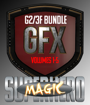 SuperHero Magic Bundle for G2F and G3F 3D Figure Assets GriffinFX