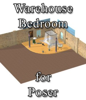 Warehouse Bedroom - for Poser 3D Models VanishingPoint
