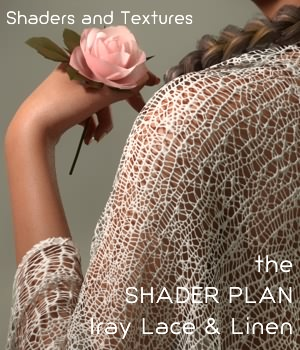 Shader Plan - Iray Lace and Linen 3D Figure Assets fabiana