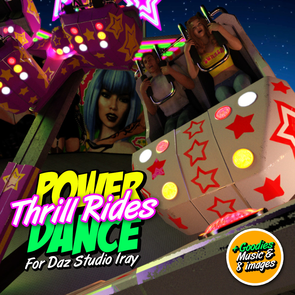 POWERDANCE Thrill Rides for DS Iray by powerage