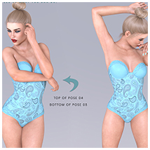 Z Turquoise Visions - Poses and Partials for Genesis 3 and 8 F image 2