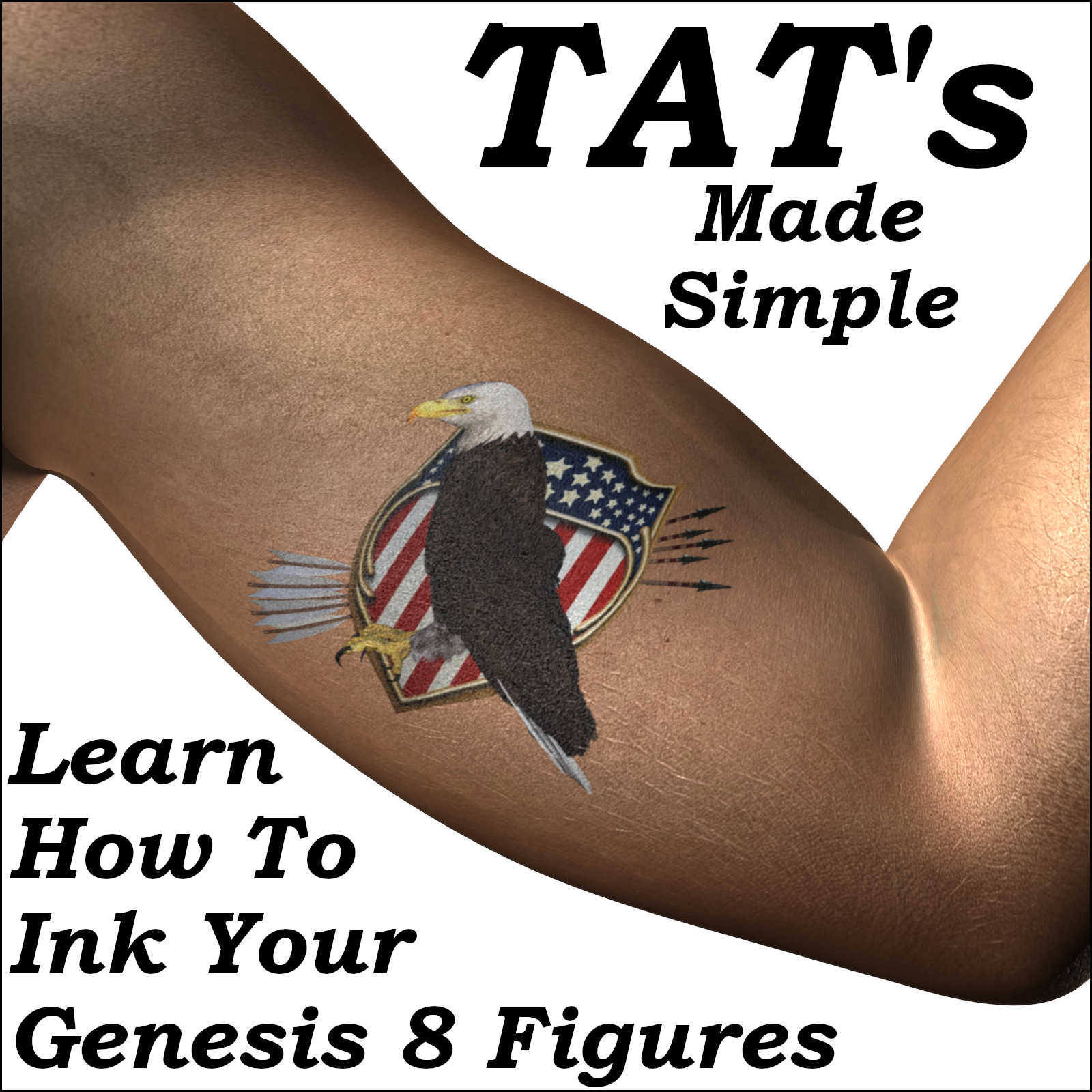 TATS Made Simple, Genesis 8 Figures Get Inked - G8F, G8M, Characters by Winterbrose