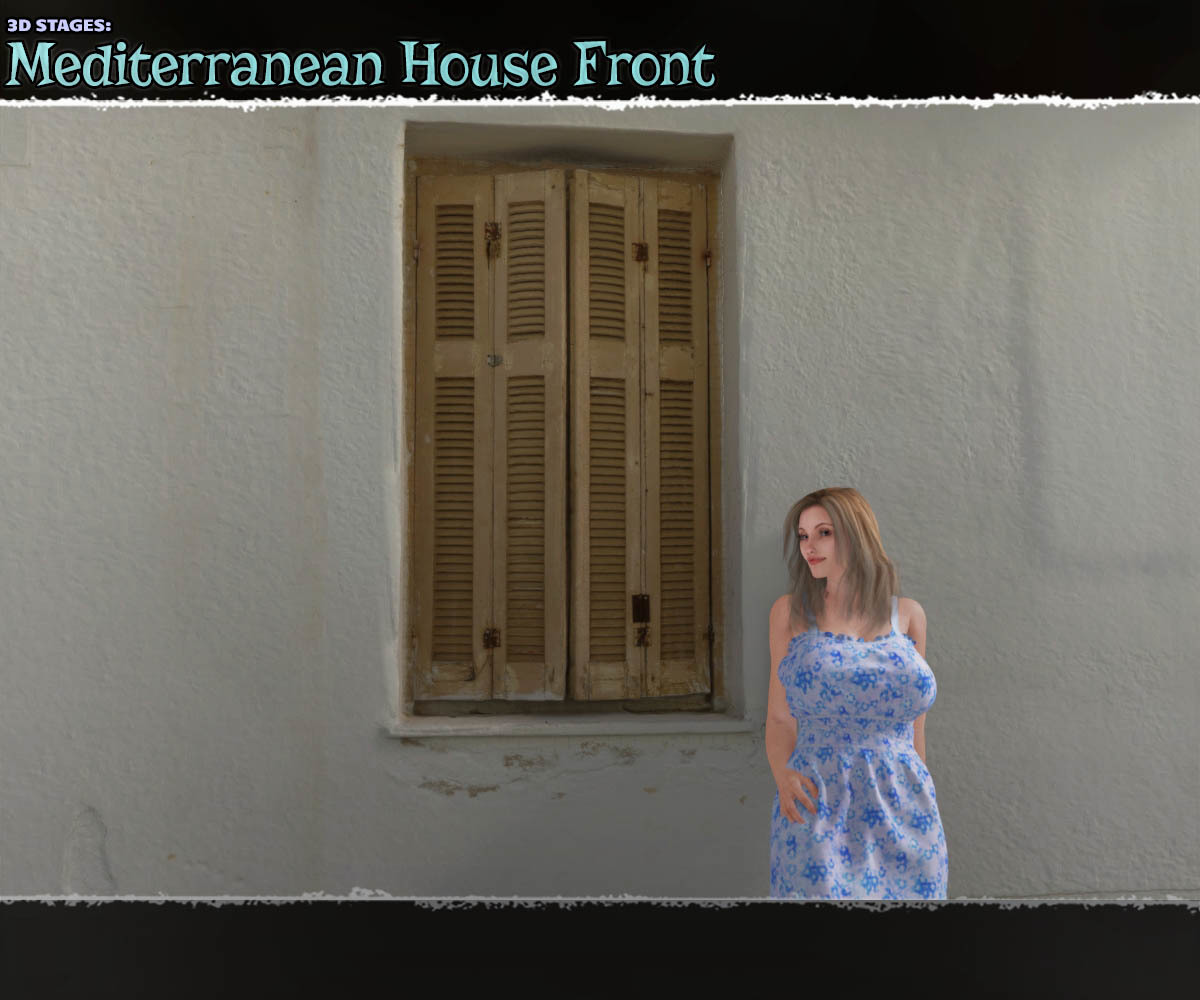 3D Stages: Mediterranean House Front by ShaaraMuse3D