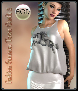 Fashion: Summer Town Outfit G3G8 3D Figure Assets ArtOfDreams