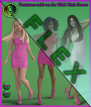 FLEX Casual for H and C Club Dress for G8F and G3F 3D Figure Assets Lyone