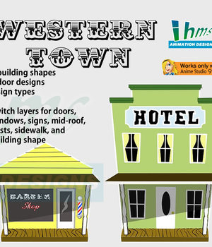 Western Town 2D Graphics Animation_Designs
