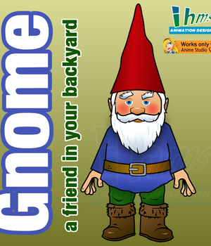 Gnome a friend in your backyard 2D Graphics Animation_Designs