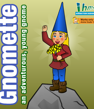 Gnomette an adventurous, young gnome 2D Graphics Animation_Designs