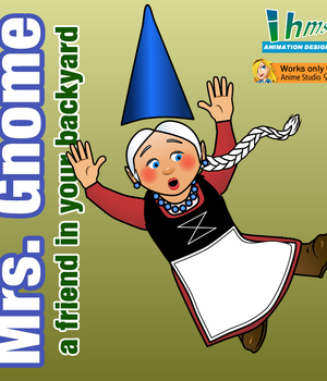 Mrs. Gnome - a friend in your backyard 2D Graphics Animation_Designs