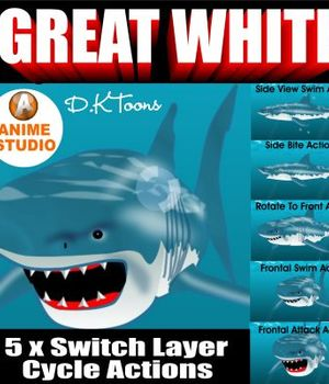 WHITE SHARK Legacy Discounted Content DKToons