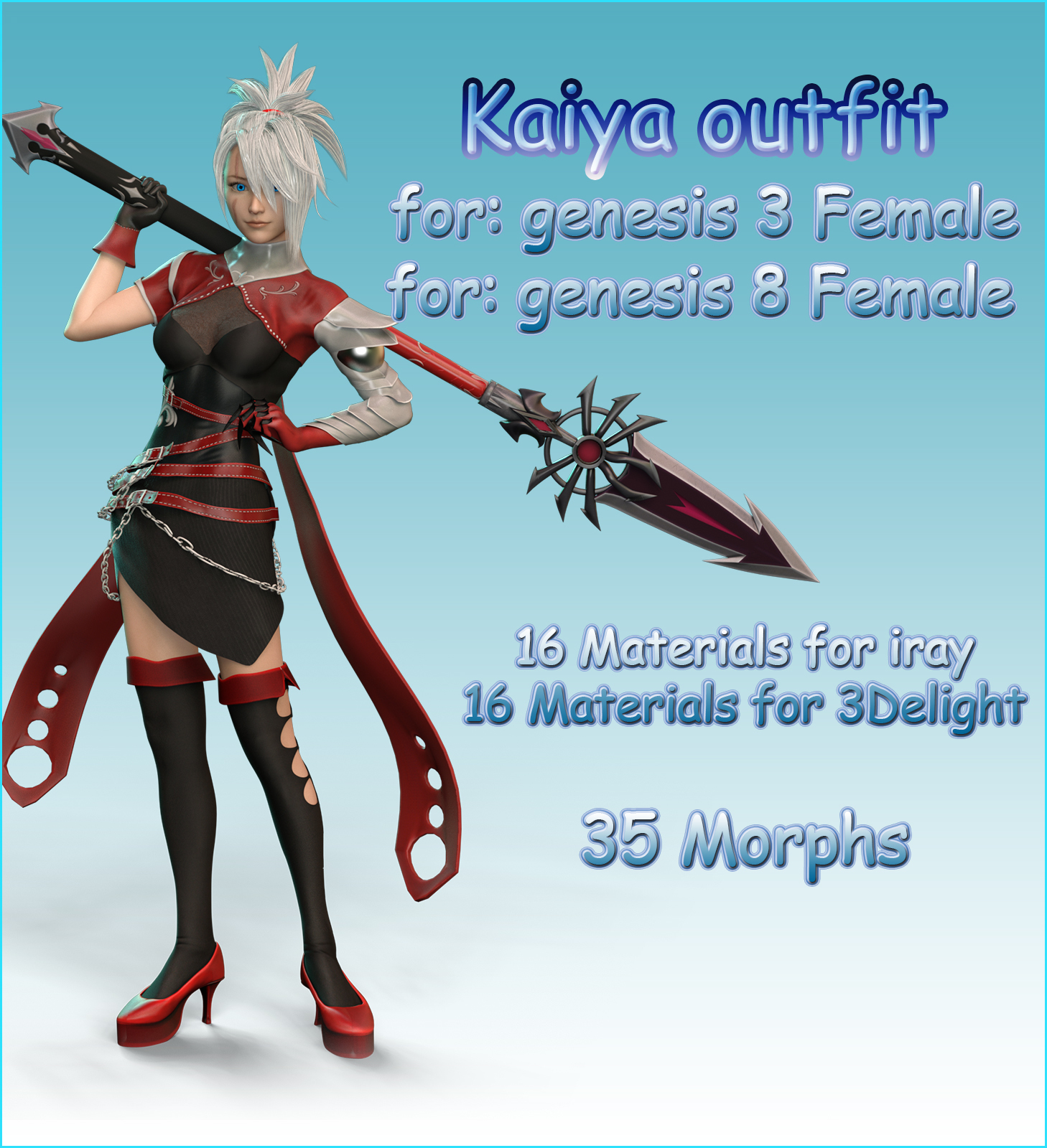Kaiya outfit for g3f g8f