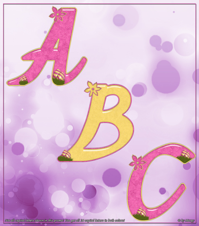 Margy's Magical Decorative Alphabet - Easter