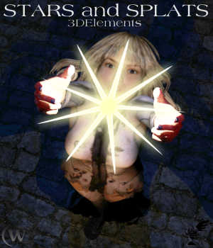 3D Elements - Stars and Splats for Poser and Daz Studio 3D Models Winterbrose