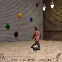 3D Elements - Stars and Splats for Poser and Daz Studio image 2