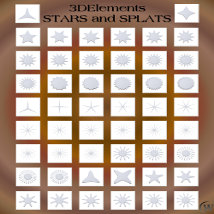 3D Elements - Stars and Splats for Poser and Daz Studio image 5