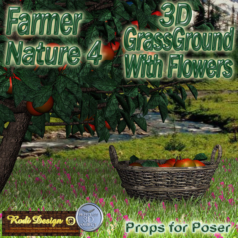 Farmer Nature, Grass with Flowers by Rodi_Design