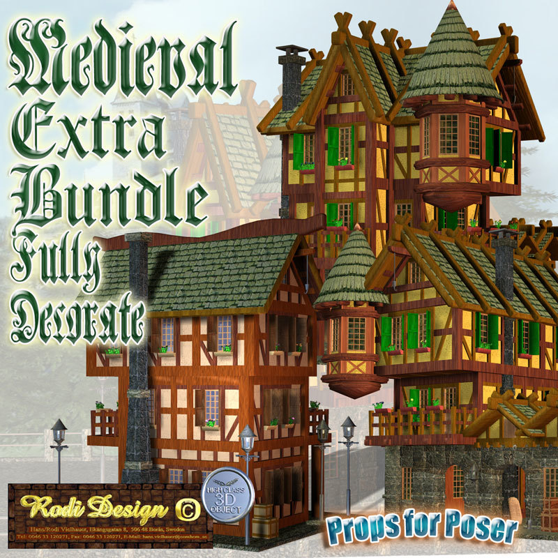 Medieval Extra House Bundle 2 by Rodi_Design