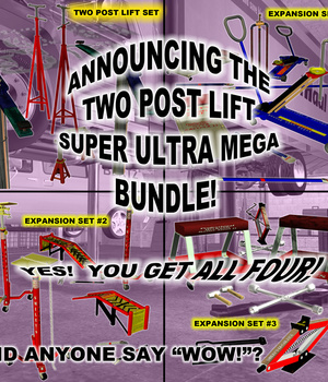 AtoZ Two Post Lift MEGA Bundle - Lift + EXP packs 1-3 Legacy Discounted Content AtoZ