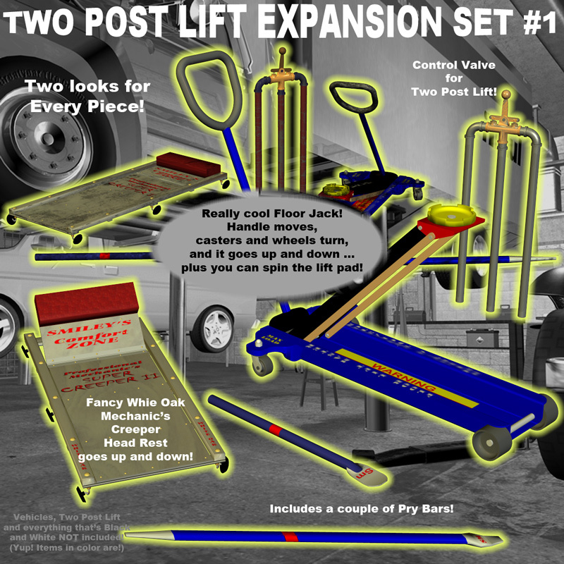 AtoZ Two Post Lift -Expansion Set #1