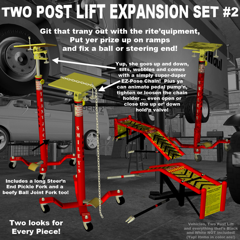 AtoZ Two Post Lift Set EXPANSION SET #2