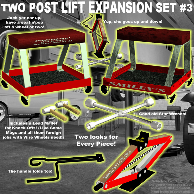 AtoZ Two Post Lift EXPANSION SET #3