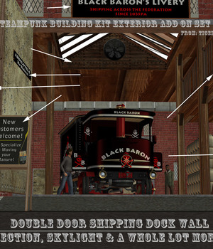 AtoZ Steampunk Building Kit EXTERIOR ADD ON v1 Legacy Discounted Content AtoZ