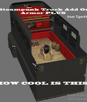 AtoZ Steampunk Truck Add On - Armor  Plus v1 Legacy Discounted Content AtoZ