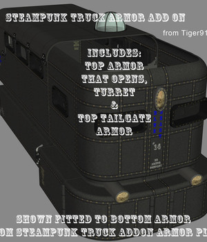 AtoZ Steampunk Truck Armor Add On Set v1 Legacy Discounted Content AtoZ