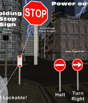 AtoZ Folding Roadway Stop Sign v1 Legacy Discounted Content AtoZ