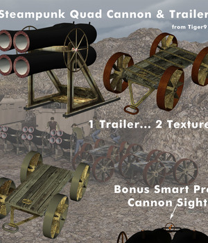 AtoZ Steampunk QUAD CANNON PLUS Legacy Discounted Content AtoZ