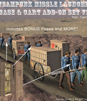 AtoZ Steampunk Missle Launcher ADD-ON Cart Case and More! v1 Legacy Discounted Content AtoZ