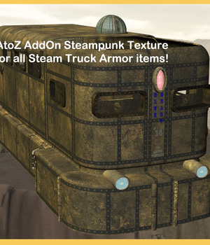 AtoZ Steampunk Texture AddOn SteamTrkArmor v1 Legacy Discounted Content AtoZ