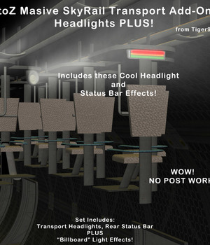 AtoZ Massive Skyrail Add-On 2 HeadLights PLUS v1 Legacy Discounted Content AtoZ