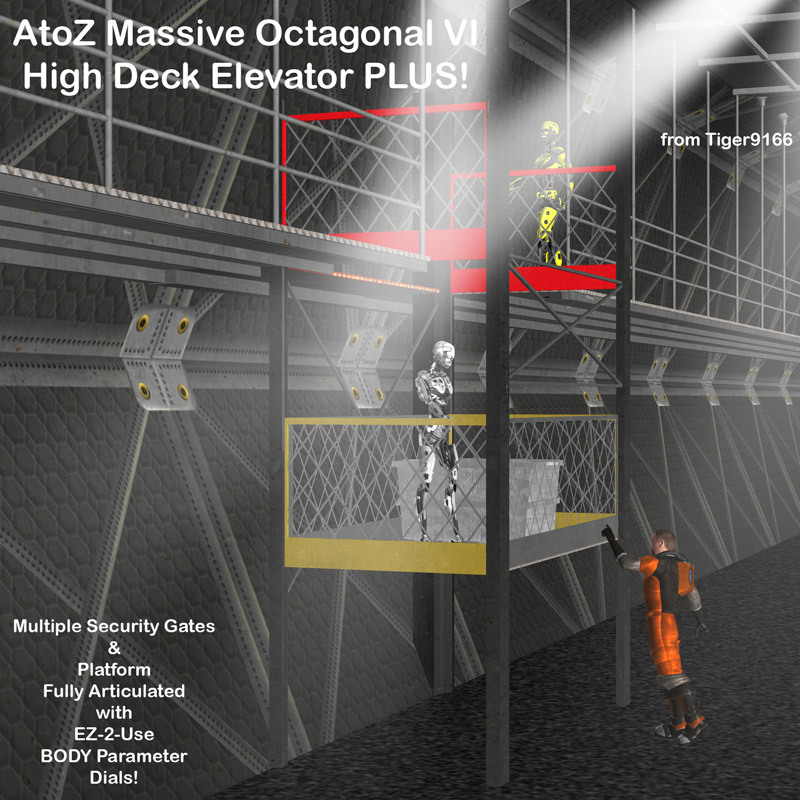 AtoZ Massive Octagonal VII High Deck Elevator PLUS v1
