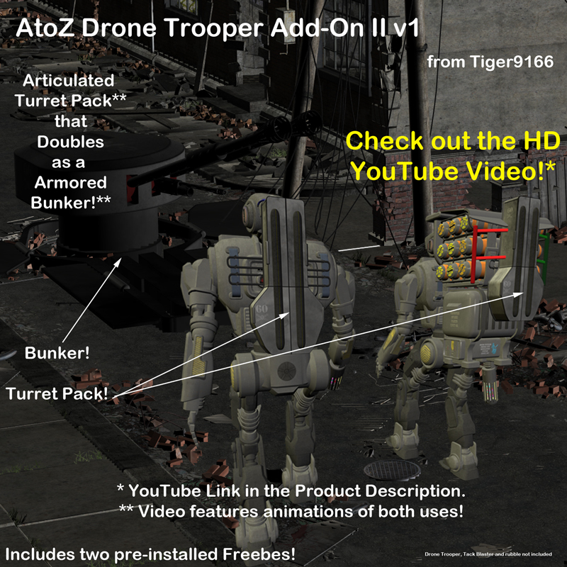 AtoZ Drone Trooper Turret Pack PLUS Addon II v1