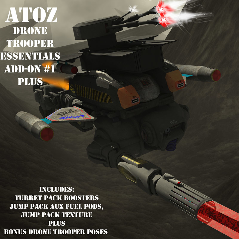 AtoZ Drone Trooper Poses I PLUS ADD-ON v1