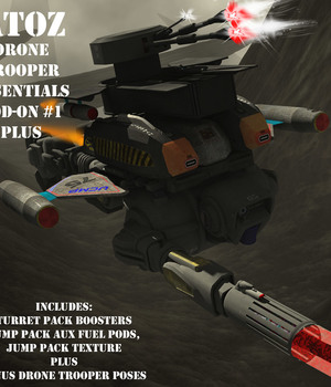 AtoZ Drone Trooper Poses I PLUS ADD-ON v1 Legacy Discounted Content AtoZ