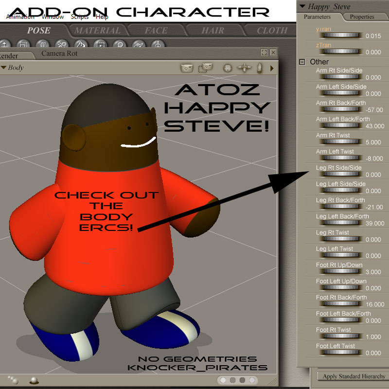 AtoZ KP_Pirates ADD-ON HAPPY STEVE v1