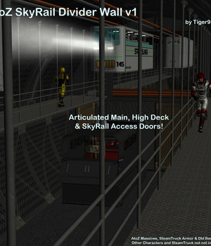 AtoZ SkyRail Add-On Divider Wall for Massive v1 Legacy Discounted Content AtoZ