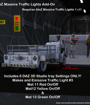 AtoZ Massive Traffic Light3 Iray Shader ADD-ON Legacy Discounted Content AtoZ