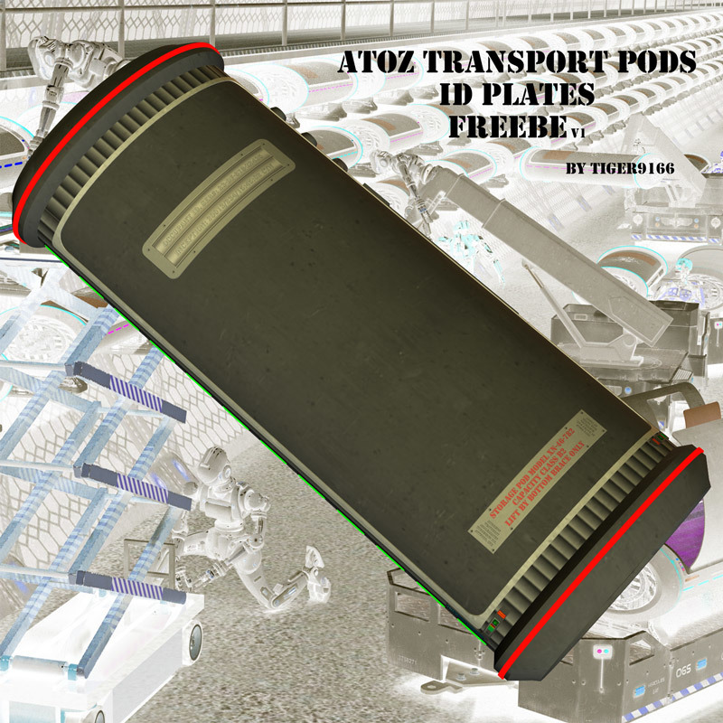 AtoZ Transport Pods ID Plates
