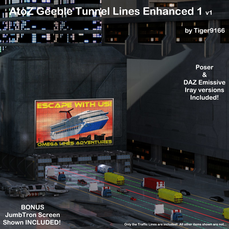 AtoZ Geeble Tunnel Lines 1 v1 by AtoZ