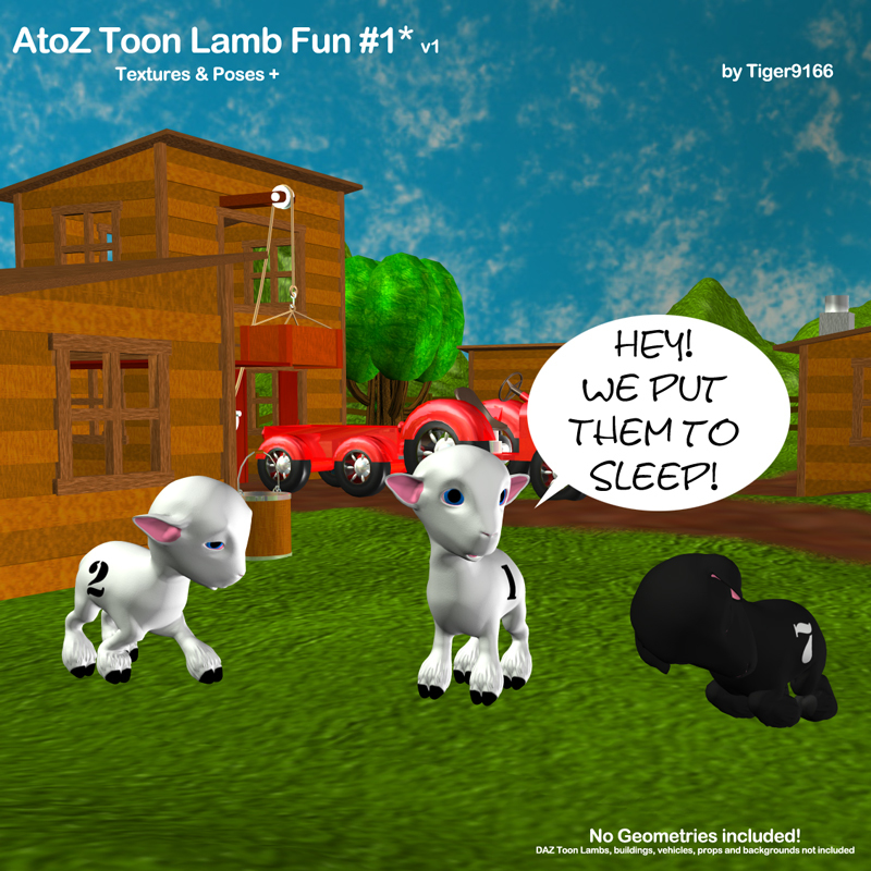 AtoZ Toon Lamb Fun Poses 1 v1 by AtoZ