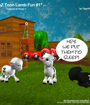 AtoZ Toon Lamb Fun Poses 1 v1 Legacy Discounted Content AtoZ