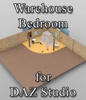 Warehouse Bedroom - for DAZ Studio  3D Models VanishingPoint