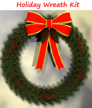 2011 Holiday Collection Evergreen Wreath 3D Models dexterdoodle