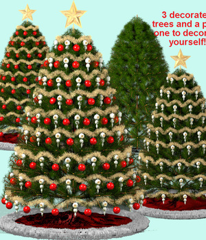 2012 Traditional Christmas Tree 3D Models dexterdoodle